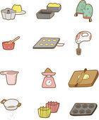Cartoon Bake icon — Stock Vector