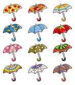 Cartoon paraplyer ikonen — Stockvektor