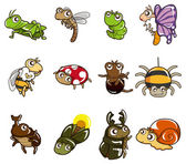 Cartoon bug icon — Stok Vektör