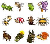 Icona di bug dei cartoni animati — Vettoriale Stock