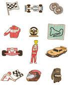 Cartoon f1 car icon — Stock Vector