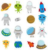 Cartoon Outer space icon — Stock Vector