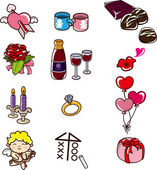 Cartoon Valentine's Day icon — Vetorial Stock