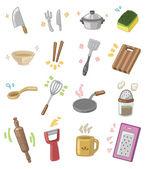 Cartoon kitchen utensils — Stock Vector