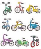漫画自転車 — ストックベクタ