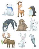 Tecknade djur ikonen — Stockvektor