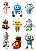 Cartoon robots — Stockvector