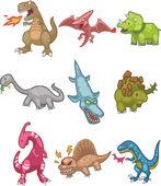 Cartoon Dinosaur icon — Stock Vector