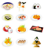 Cartoon Japanese food icon — Stock Vector