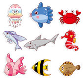 Cartoon fish icon — Stock Vector