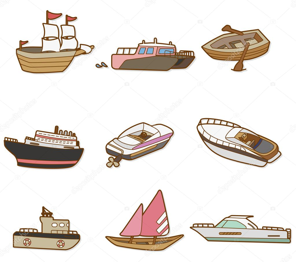 Boat Cartoon Pictures Cartoon Boat Vector by