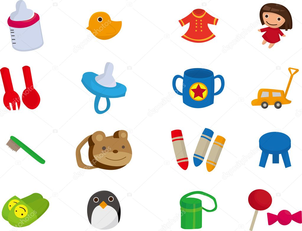 Baby toy cartoon element — Stock Vector © mocoo2003 #8094192
