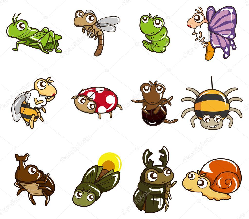 Cartoon bug icon stock illustration
