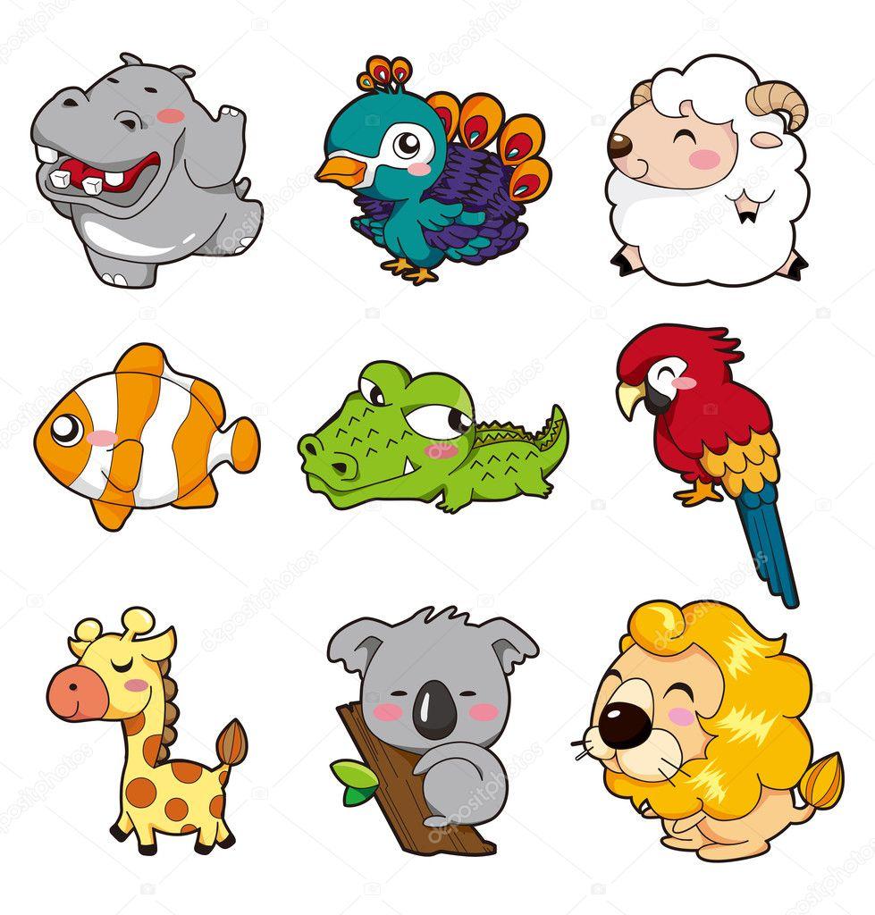 Cartoon animal stock illustration