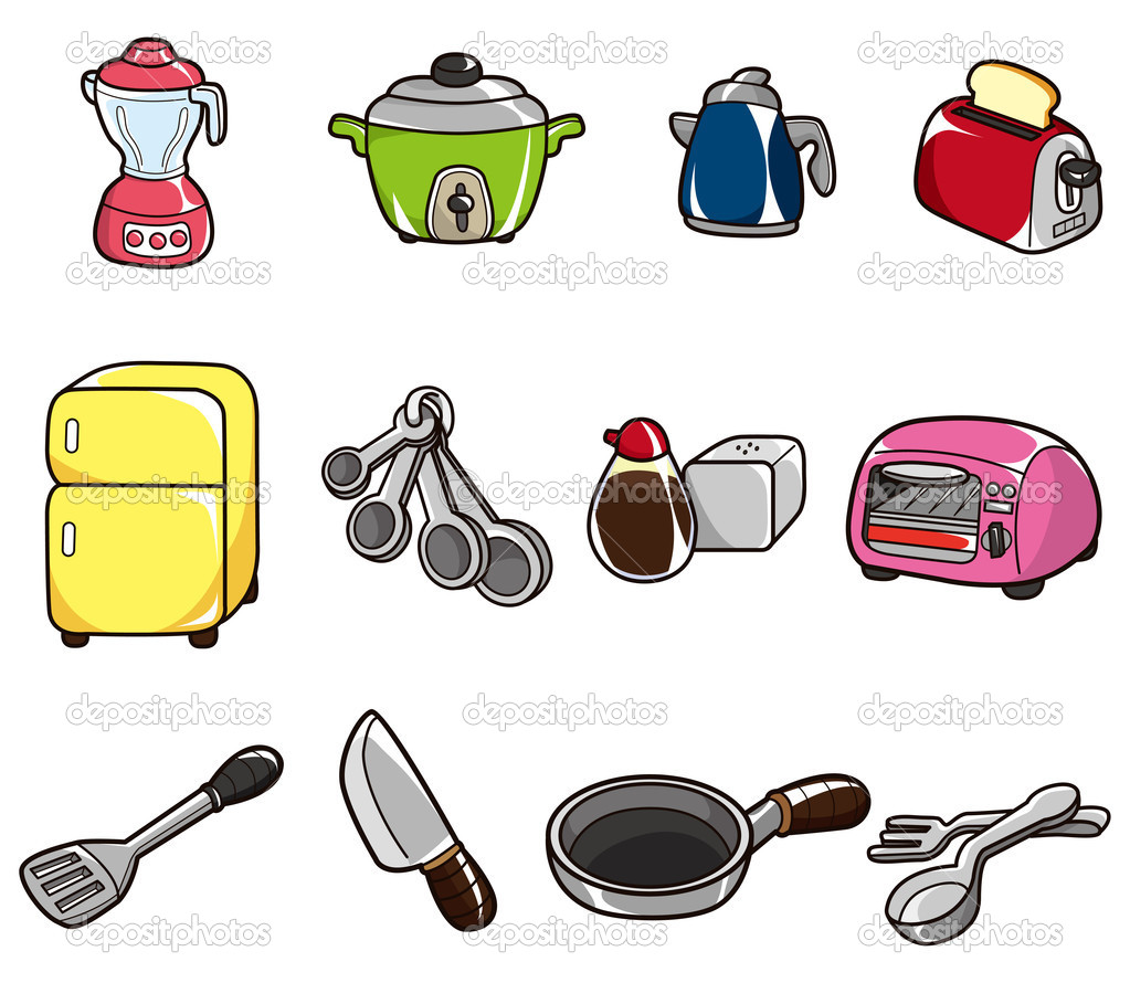 Icono de la cocina de dibujos animados vector de stock - Objetos de cocina ...