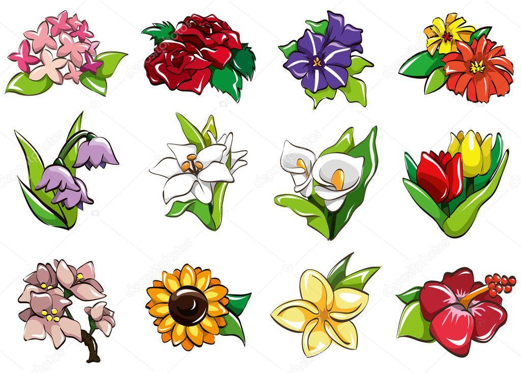 цветы значки: