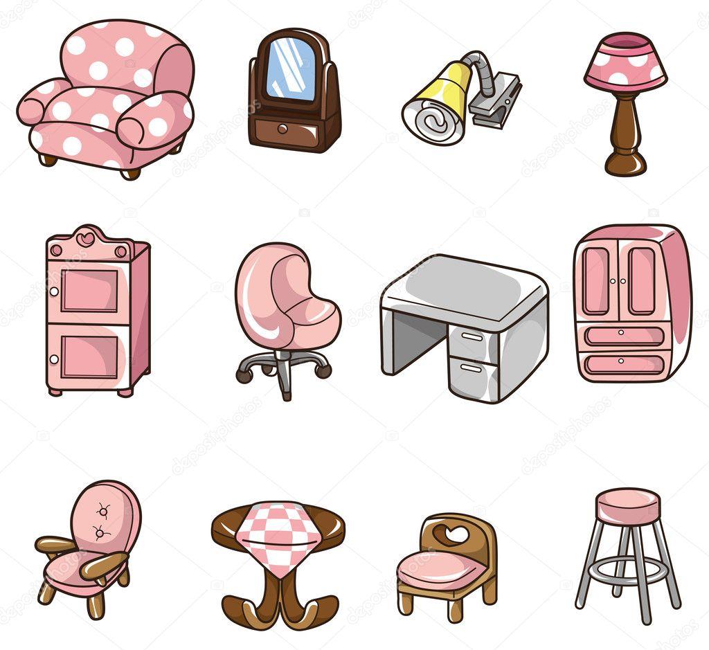 Cartoon Furniture: Stock Vector © Mocoo2003 #8094857