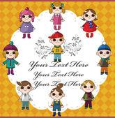 Winter children card — Stock Vector