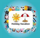 Travel card — Stock Vector