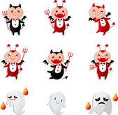 Cartoon devil icon — Stock Vector