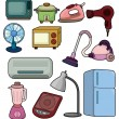 Stock Vector: Cartoon home appliance icon