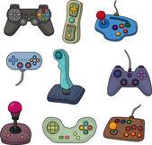 Cartoon game joystick icon set — Stock Vector