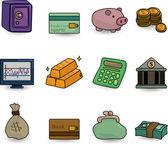 Cartoon Finance & Money Icon set — Vetorial Stock
