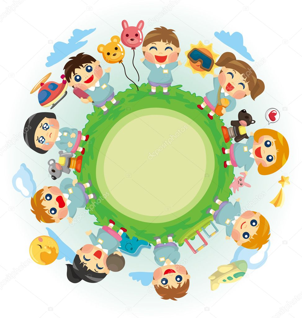 Happy kid world — Stock Vector #8281047
