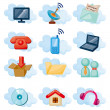 Vector Icons for Cloud network — Stock Vector