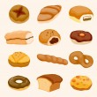 Cartoon bread icon - Stock Vector