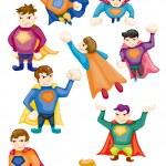 Cartoon superman icons — Stock Vector #8290133