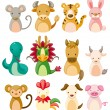 Stock Vector: 12 animal icon set,Chinese Zodiac animal ,