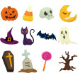 Halloween icons set — Vector de stock