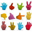 Cartoon color Hands collection ,vector - Vektorgrafik