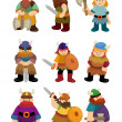 Cartoon Viking Pirate icon set - Vektorgrafik