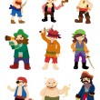 Cartoon pirate icon set - Imagen vectorial