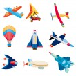 cartoon airplane icon — Stock Vector #8290584