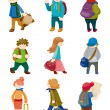 Cartoon travel icons set — Stock Vector #8290720