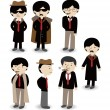 Cartoon mafiicon set — Stock Vector #8298323