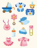 Cartoon baby goed pictogrammenset — Stockvector