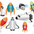 Cartoon spaceship icon — Stock Vector #8307315