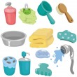 Royalty-Free Stock Vector Image: Cartoon Bathroom Equipment icon set