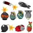 Cartoon-explosive Icon-set — Stockvektor  #8307345