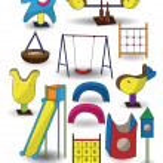 Cartoon park playground icon — Stock Vector #8307351