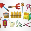 Royalty-Free Stock Vector Image: Cartoon Gardening icon set