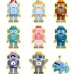 Cartoon robots icons set — Stock Vector #8307387