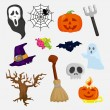 Stock Vector: Halloween icons set