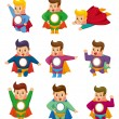 ������, ������: Cartoon superman icons