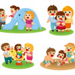 Sweet family set - Stock Vector