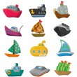 Royalty-Free Stock Vector Image: Cartoon boat icon